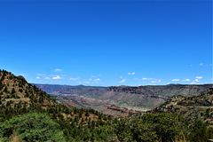 San Carlos Apache Indian Reservation, Gila County, Arizona, Förenta staterna royaltyfri fotografi