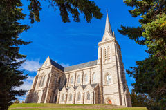 San Carlos Bariloche Cathedral. Cathedral of San Carlos de Bariloche in the centre of Bariloche, Patagonia region in Argentina Royalty Free Stock Image
