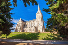 San Carlos Bariloche Cathedral. Cathedral of San Carlos de Bariloche in the centre of Bariloche, Patagonia region in Argentina Royalty Free Stock Photos