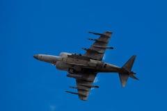SAN CARLOS, CA - 19 JUIN : Le harrier d'AV-8B branchent l'avion à réaction Images libres de droits