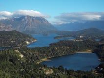 San Carlos de Bariloche panorama Arkivfoton