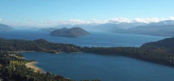 San Carlos de Bariloche panorama Royaltyfria Foton