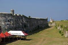 San Carlos de la Cabana Fort, havannacigarr, Kuba royaltyfria bilder