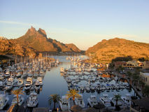 San Carlos marina, Sonora Mexico. Pic of the Marina At San Carlos, Mexico Stock Photos