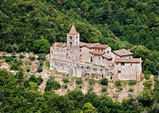 San Cassiano Abbey - Umbria, Italy Stock Photo