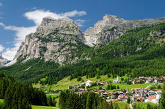 San Cassiano Town Stock Photo