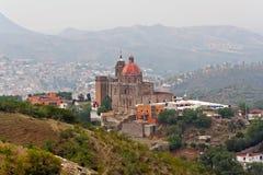 San Cayetano de Valenciana Church Guanajuato. The San Cayetano de Valenciana church with its single tower and large dome Royalty Free Stock Photos