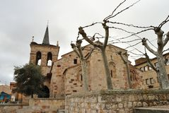 San Cipriano Church, Zamora, Spanien royaltyfri bild