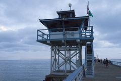 San Clemente California Lifeguard Tower Stock Photos