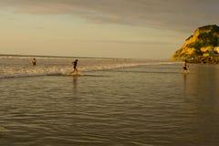 Tramonto sulla costa del Pacifico dell'Ecuador Fotografia Stock