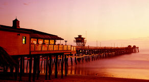 San Clemente Pier. At sunset Royalty Free Stock Photo