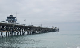 San Clemente Pier on an overcast day Stock Photography