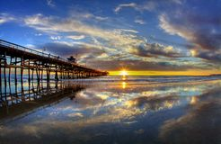 San Clemente Pier Summer Sunset Royalty Free Stock Image