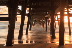 San Clemente pier at sunset in the fall Royalty Free Stock Image