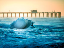 San Clemente  Shore Break Flair Royalty Free Stock Image
