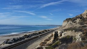 San clemente state beach next to railroad Stock Photos