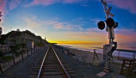 San Clemente State Park at Sunrise Wide Angle Stock Photography