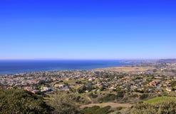 San- Clementehügel, die in Richtung Dana Point blicken Stockfotografie