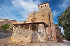 San Cosme Uczelniany kościół, Covarrubias, Burgos, Hiszpania Ja jest a fotografia stock