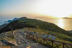 San Costanzo mount at Massa Lubrense, Sorrento royalty free stock photo
