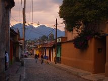 Streets of San Cristobal de las Casas, former capital city of Chiapas, Mexico royalty free stock photo