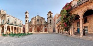 San Cristobal Cathedral, Avana, Cuba Fotografia Stock Libera da Diritti