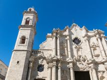 San Cristobal Cathedral, the Havana Cathedral, in Old Havana, Cu Stock Photo