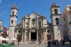 San Cristobal Cathedral in Oud Havana Royalty-vrije Stock Afbeeldingen