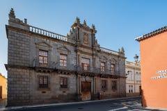 2019-02-22 San Cristobal de la Laguna, Santa Cruz de Tenerife - Palacio de Nava - imágenes del centro de ciudad del anterior foto de archivo