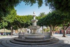 2019-02-22 San Cristobal de la Laguna, Santa Cruz de Tenerife - Plaza del Adelantado - imagens do centro da cidade do foto de stock