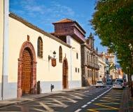 San Cristobal de La Laguna street in Tenerife Royalty Free Stock Image