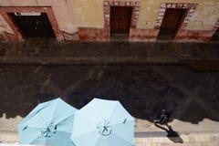 SAN Cristobal de Las Casa, Μεξικό 29 Δεκεμβρίου 2018: Οδοί και ζωηρόχρωμα κτήρια στο SAN Cristobal στοκ εικόνα με δικαίωμα ελεύθερης χρήσης