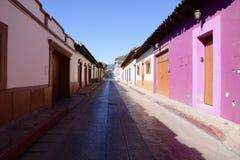 San Cristobal De Las Casa, Mexico-December 29, 2018: Streets and colourful buildings in San Cristobal royalty free stock photography