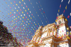 San Cristobal De Las Casas. Church in San Cristobal de las Casas, Chiapas, Mexico stock photo