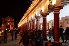 San Cristobal de las Casas. Night image at San Cristobal de Las Casas, Chiapas, Mexico stock photography