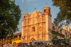 San Cristobal de las Casas. The Santo Domingo Church stock photos