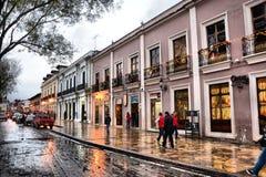San Cristobal de las Casas. Street at San Cristobal de Las Casas, Chiapas, Mexico stock photo