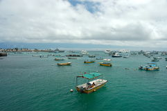San Cristobal harbor,Galapagos. Royalty Free Stock Photos