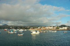 San Cristobal harbor, Galapagos. Royalty Free Stock Photos