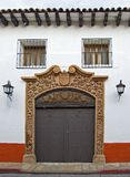 San Cristobal House Entrance. The Entrance to a Tipical San Cristobal de las Casas Spanish Style House in Chiapas, Mexico royalty free stock photo