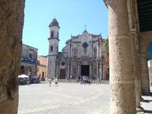 San Cristobal in Kathedraalvierkant Stock Afbeeldingen