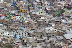 San Cristobel slums in Lima in Peru Stock Images