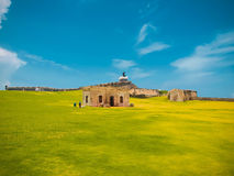 The San Cristobol Fort, Puerto Rico. Royalty Free Stock Photos