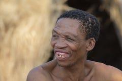 San - débroussailleurs - une tribu que nous avons visitée en Namibie photos libres de droits