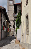 San Daniele, Friuli Venezia Giulia. central alley Stock Photo