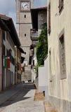 San Daniele, Friuli Venezia Giulia Central gränd arkivfoto