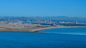 San Deigo city and pacific coast line, California Stock Image