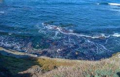 San Deigo coast line, California. Beautiful pacific coast near San Diego, California stock photo