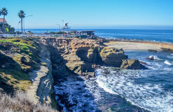 San Deigo coast line, California. Beautiful pacific coast near San Diego, California stock photography
