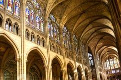 San Denis Cathedral, Parigi fotografie stock libere da diritti